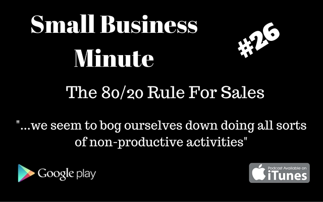 80/20 rules for sales