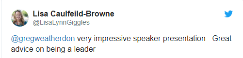 Greg Weatherdon Impressive Speaker Leadership