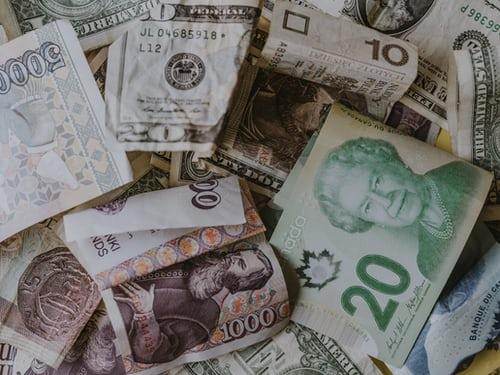 dollars, pounds, yen